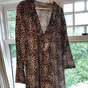 Lioness leopard print wrap dress. Size XL.
